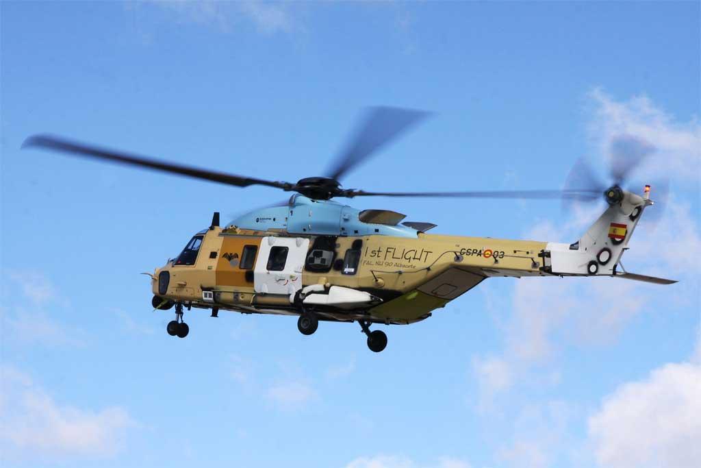 Vuela el primer NH-90 ensamblado en España.