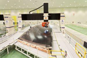 Producción de la cubierta inferior del ala del A350 en la factoría de Airbus en Illescas.