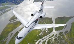 El nuevo Dassault Falcon 5X tiene una autonomía de 9.630 kilómetros con ocho pasajeros y tres tripulantes.