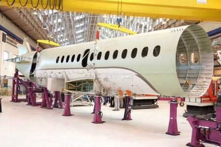 Fuselaje central del primer Dassault Falcon 5X