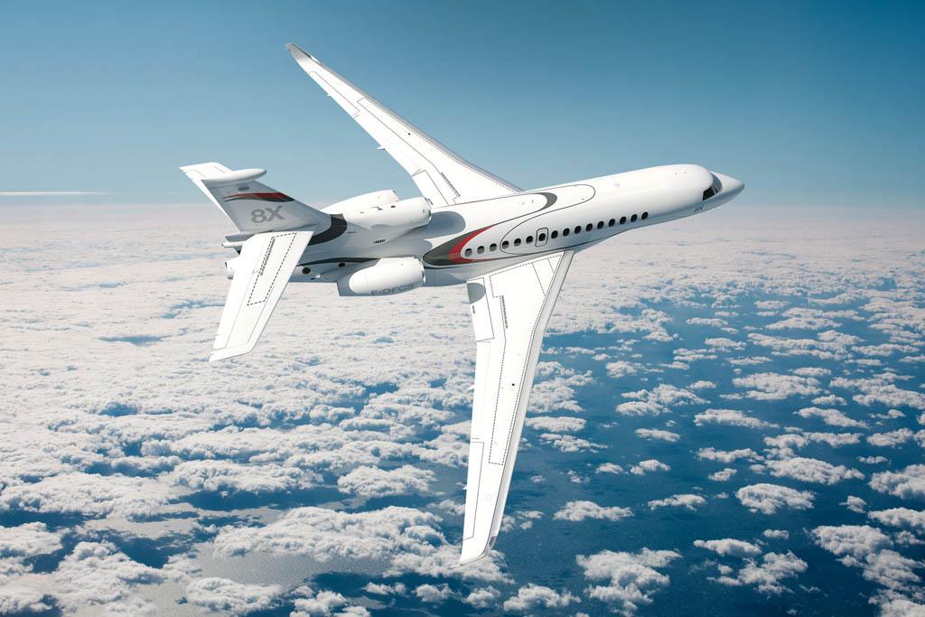 Nuevo Dasaault Falcon 8X lanzado ayer en Ginebra por el fabricante francés
