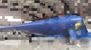Una de las dos imágenes que Zhongtian Feilong ha publicado de su nuevo UAV Feilong-2.