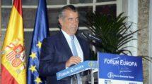 Fernando Alonso durante su intervención en el Forum de Nueva Economía.