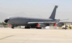 Otra de las novedades en FIDAE es este KC-135 de la Fuerza Aérea de Chile.