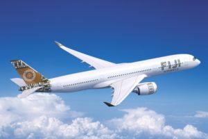 Fiji Airways inició sus vuelos de largo radio con dos Boeing 747, sustituyendo estos por seis Airbus A330 y ahora los complementa con dos A350.