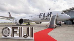 El primero de los dos A350 que Airbus entregó a Fiji Airways el día 14 de noviembre, en el centro de entregas de Toulouse.