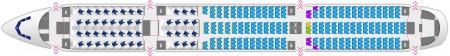 Plano de asientos del Airbus A350 de Finnair.