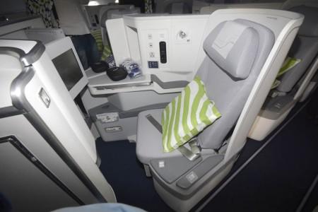 Nuevos asientos de clase business del Airbus A350 de Finnair.