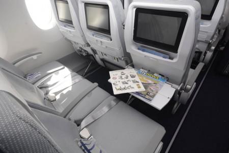 Nuevos asientos de clase turista del Airbus A350 de Finnair.