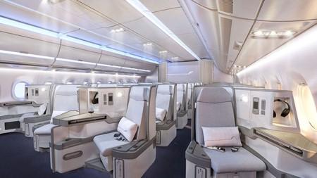 Nuevos asientos de clase business para el Airbus A350 de Finnair