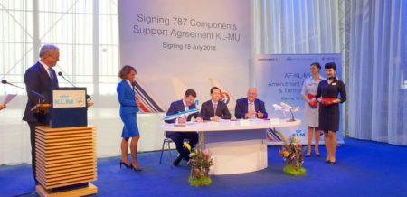 Firma entre Air France KLM y China Eastern de su acuerdo para el mantenimiento de los Boeing 787.