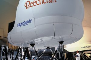 Simulador de Beech King Air desarrollado por FlightSafety.