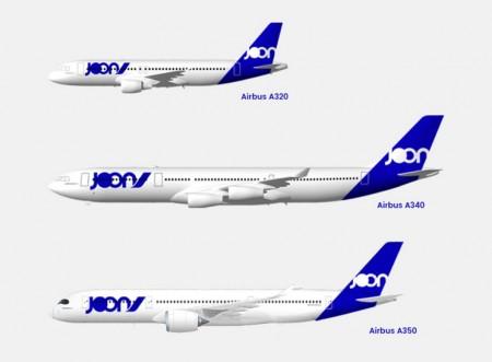 Joon contará con Airbus A320, A340 y A350, estos últimos los primeros que tenía que recibir Air France.