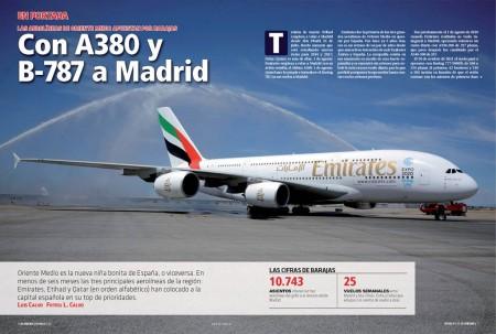 Madrid se ha convertido en el destino número 37 de los Airbus A380 de Emirates.