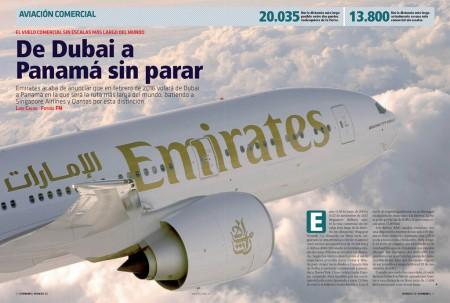 13.821 km en línea recta separan Dubai y Ciudad de Panamá, la próxima ruta aérea más larga del mundo.
