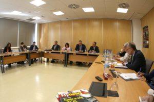 Un momento de la reunión de Fly News con la industria espacial europea celebrada en las instlaciones de la FIDAMC en Tecno Getafe.