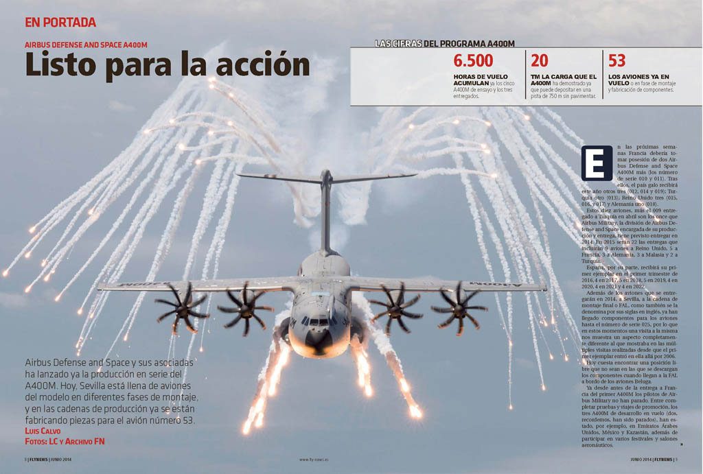 En portada de Fly News junio 2014 dedicado al 400M.