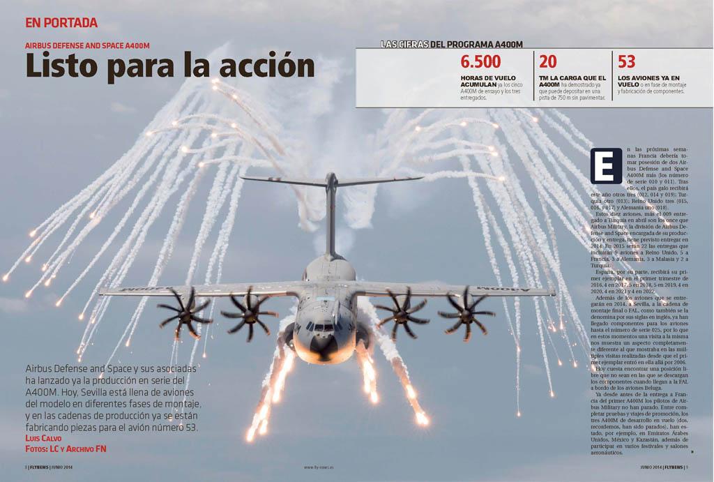 En portada de Fly News junio 2014 dedicado al 400M.