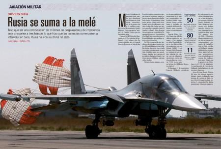 El Sukhoi Su-34 es uno de los cuatro modelos de aviones de ataque y bombardeo usados por Rusia en Siria.