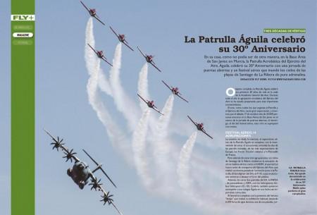 Uno de los mejores momentos del festival de San Javier: el vuelo en formación de la Patrulla Águila y el A400M.