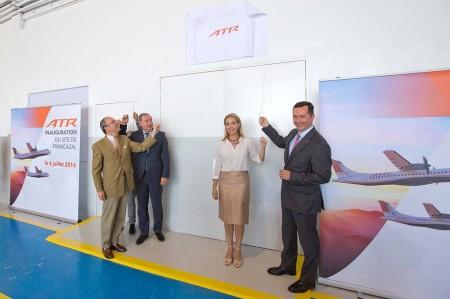Ceremonia de inauguración de la nueva base de mantenimiento de ATR en el aeropuerto de Toulouse Francazal.