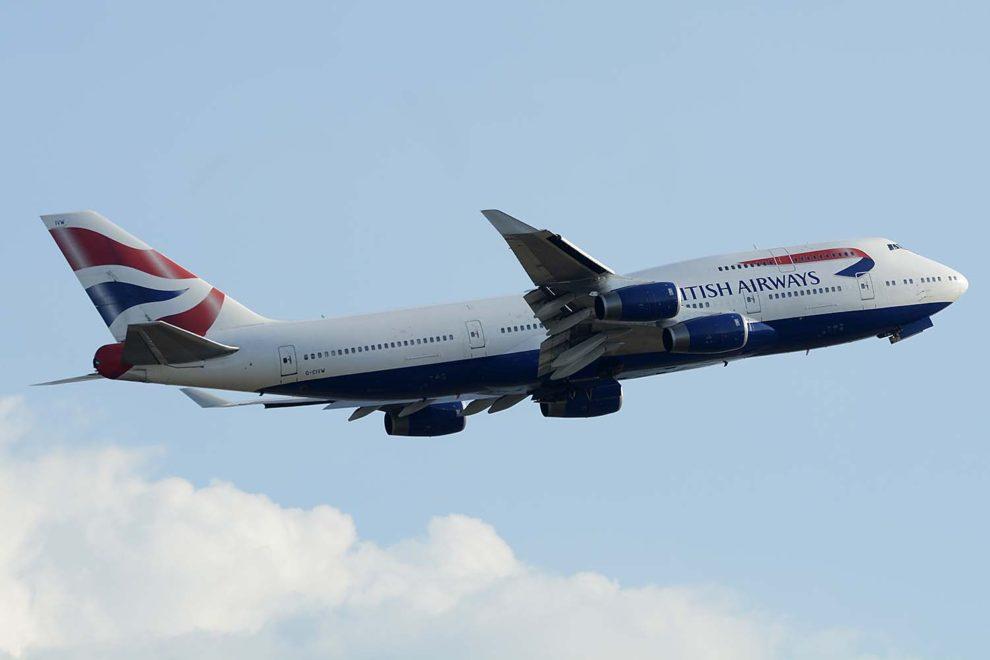 El Boeing 747-400 GCIVW depsegando de Londres Heathrow en 2018.
