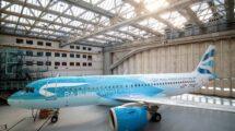 El Airbus A320neo G-TTNA con su nueva decoración especial.