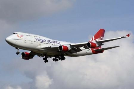 El Boeing 747 G-VWOW llegando a Heathrow unos meses antes de su retirada de servicio.