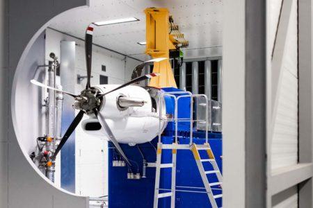 Uno de los General Electric Avio Catalyst en el bando de ensayos.q