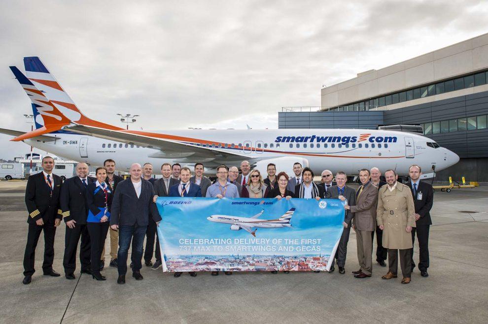 Entrega del primer Boeing 737 MAX de GECAS, alquilado a Travel Servicie y oprado por su filial Smart Wings.
