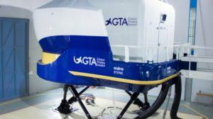 Simulador de Boeing 7367-800 de GTA en sus instalaciones de Madrid.