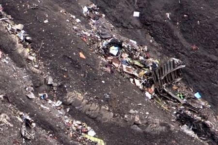Restos del vuelo GWI 4595.