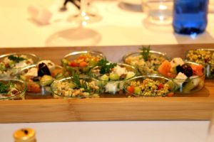 Algunos de los platos ofrecidos por Iberia Express durante el Gastrofestival de Madrid.