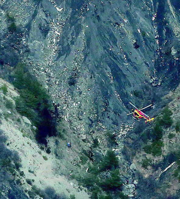 Lugar del accidente del Airbus A320 de Germanwings