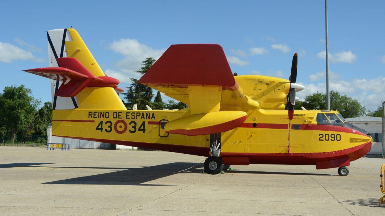 El 43 Grupo colocó en la exposición estática uno de sus cuatro Canadair CL-415.