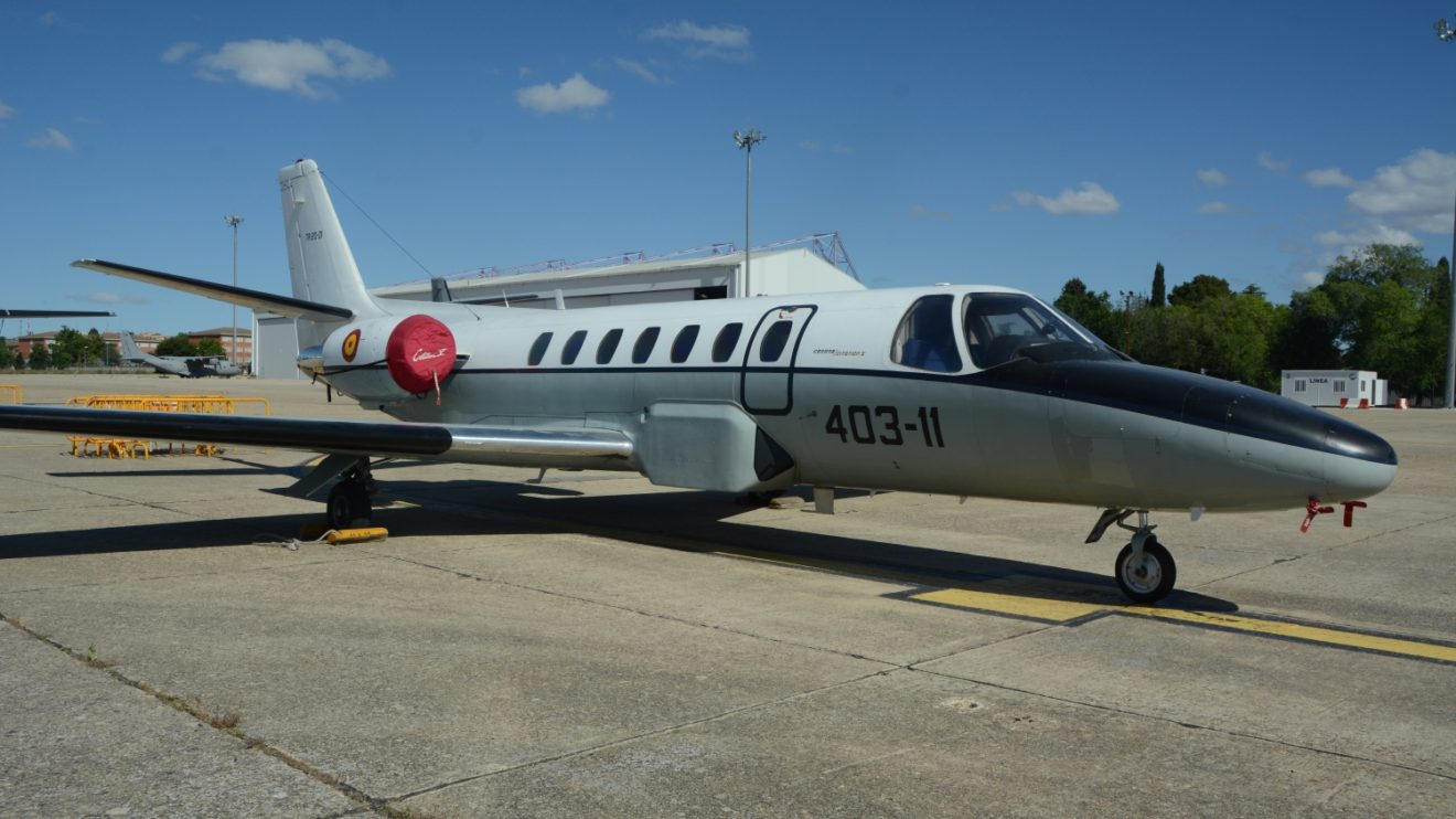 Cessna Citation II del Centro Cartográfico y Fotográfico (CECAF), dedicado a la cartografía,aerofotografía, y la inspección y calibración de radioayudas.