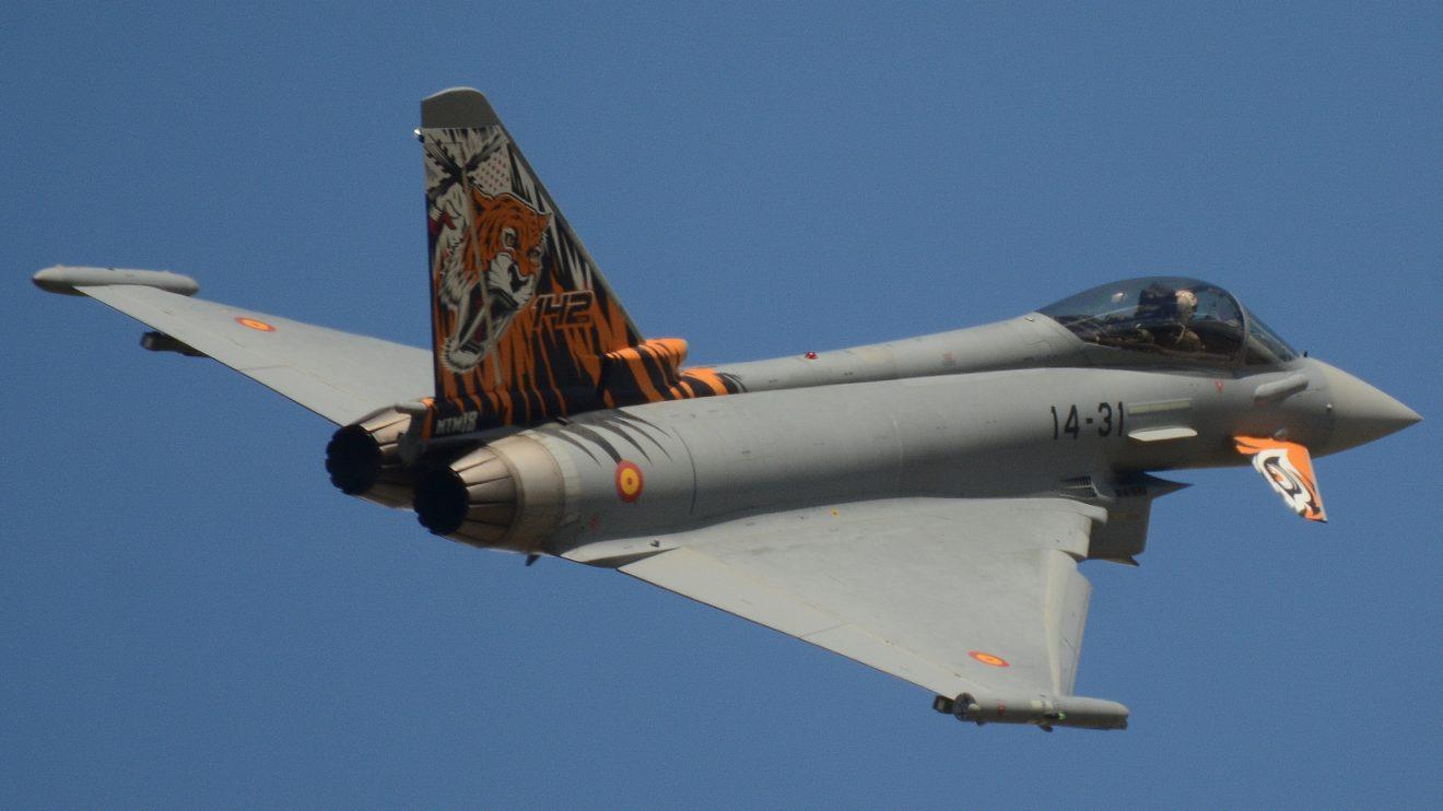 El Ala 14 decoró así este Eurofighter para el Tiger Meet 2018, unas maniobras anuales de los escuadrones de la OTAN con un tigre en su emblema.