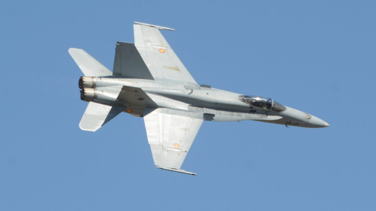 El Ala 12 ha sido en esta ocasión la encargada de la demostración del F/A.18.