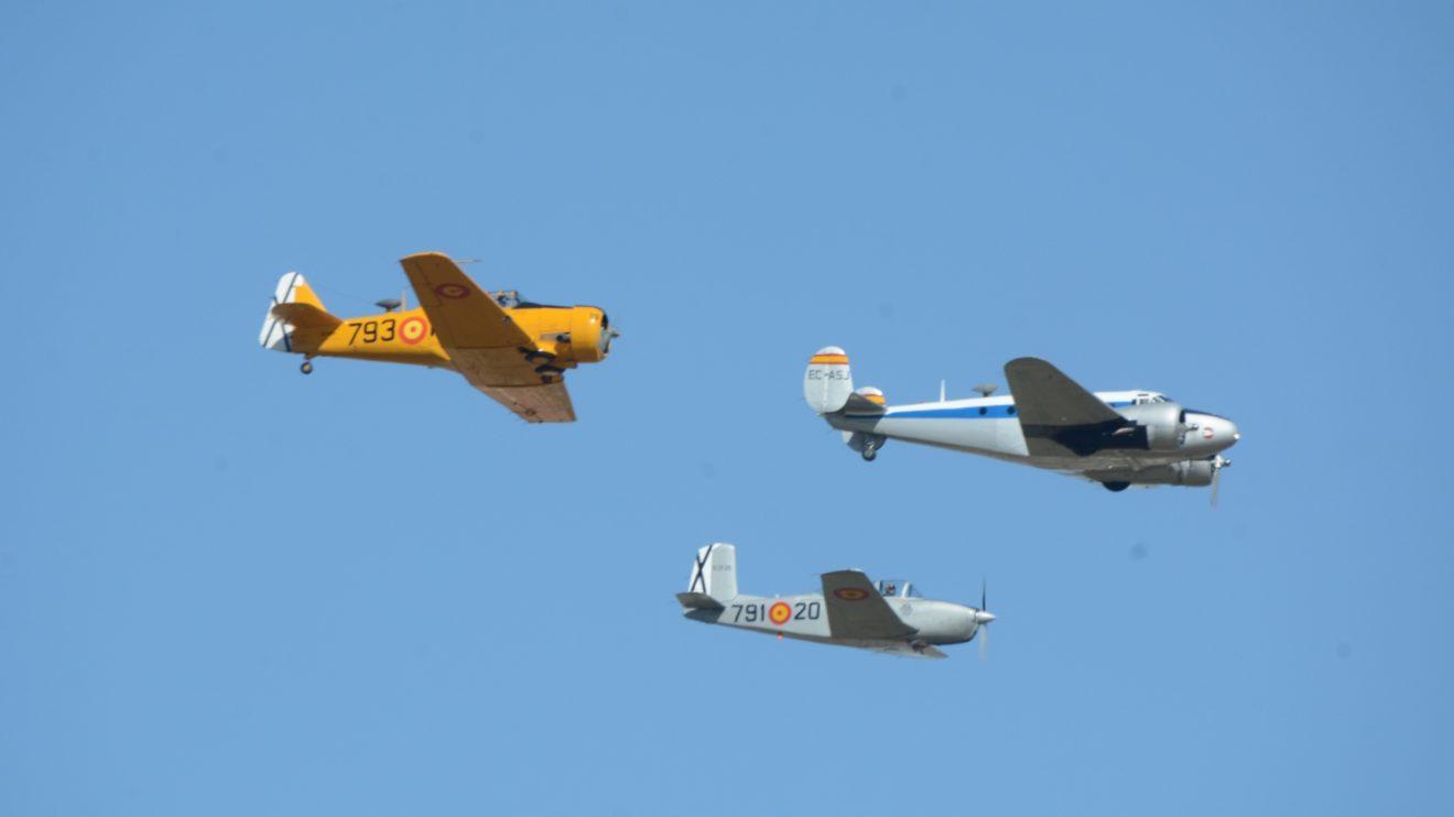 La Fundación Infante de Orleans fue, tras la PAPEA, la encargada de abrir las demostraciones aéreas en Getafe.