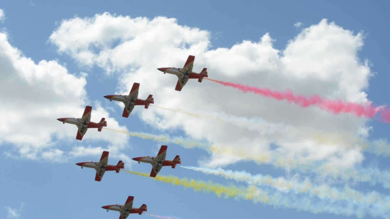 La próxima ´presencia en España de la Patrulla Águila será en el Día de las Fuerzas Armadas, en Sevilla, el 1 de junio.