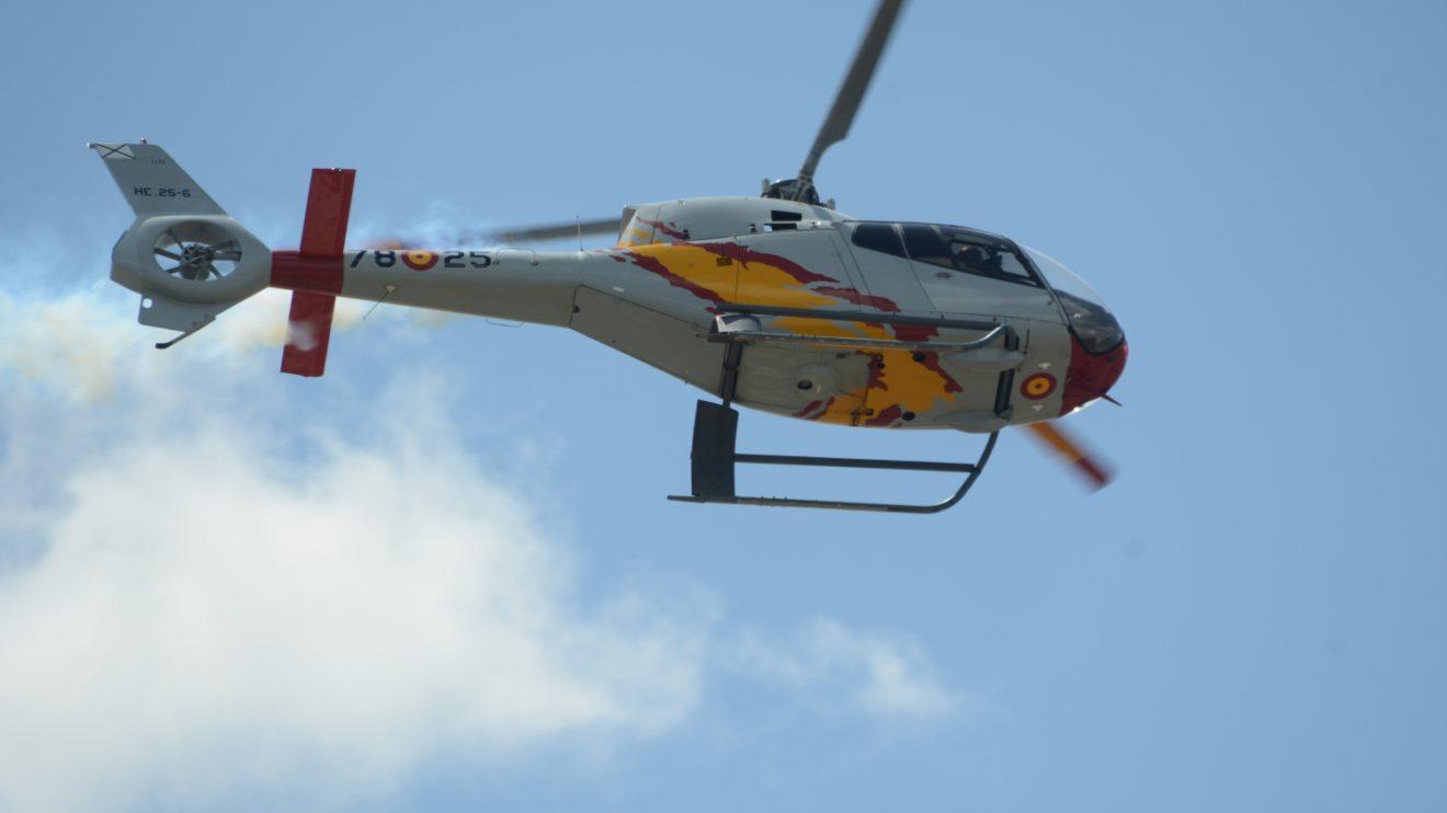El Ala 78 cuenta con 15 Eurocopter EC120B para instrucción. Todos lucen la decoración con la bandera española.