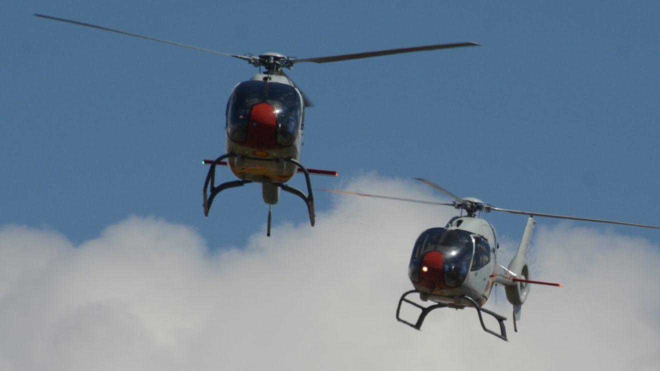 Aspa es una de las pocas patrullas acrobáticas de una fuerza aérea con helicópteros.