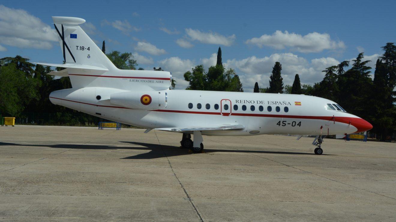 Numerosas unidades del Ejército del Aire han expuesto sus aviones en la plataforma de Getafe, incluido el Grupo 45 de transporte