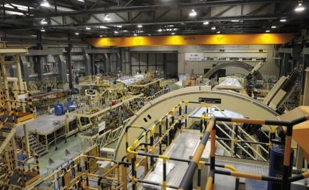 Cadena de producción del A380 en Getafe
