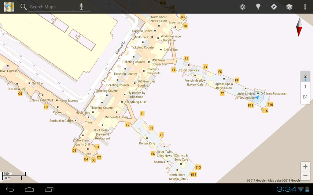 Aeropuerto en GoogleMaps 6.0