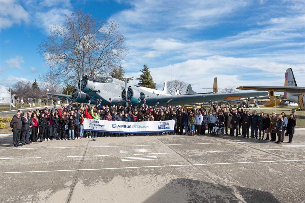 Airbus lanza en Getafe la iniciativa Flying Challenge para prevenir el fracaso escolar