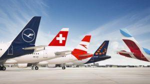 Aviones de las aerolíneas del Grupo Lufthansa.