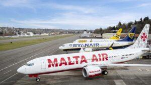 Ryanair ha recibido ya cuatro Boeing 737 MAX con sus colores y uno con los de Malta Air de un pedido de 210 unidades.