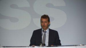Gillaume Faury durante la rueda de presentación de resultados de Airbus.