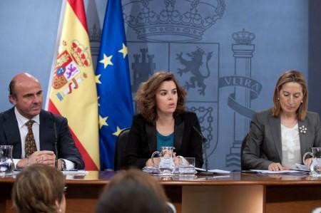 Ministros de Guindos, Sáez de Santamaría y Pastor.